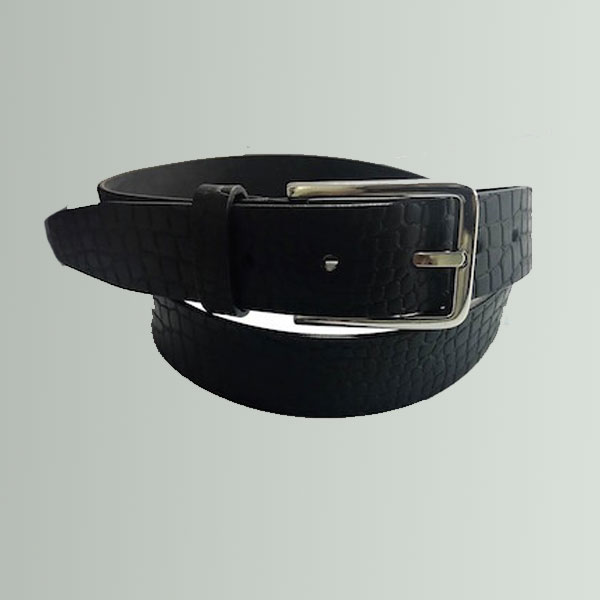 SCB10 CROCO PRINT NARROW BELT