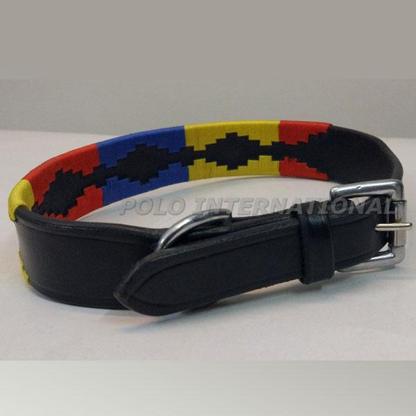 0301 Argentinian leather polo Dog collar